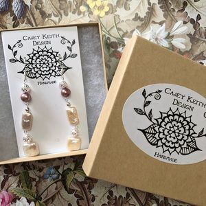 Casey Keith Design Jewelry - Chain of Pearls Earrings